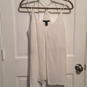 Tank top with front and side slits